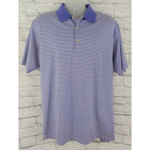 Peter Millar Striped Polo, Size Large